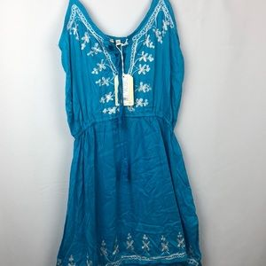 NWT Beach by Exist embroidered dress
